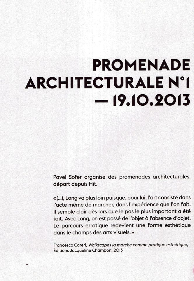 Promenade architecturale N°1 PAVEL SOFER HIT Anne Minazio