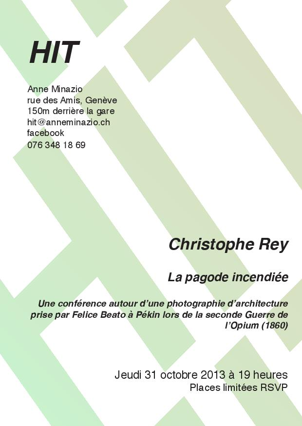 Conférence N°1 CHRISTOPHE REY HIT Anne Minazio