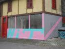 façade: Hugo Baud & Thomas Baud Monochromes & Wallpainting N°4 & Façade automne/hiverHIT Anne Minazio