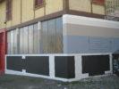 façade: Alan Schmalz Monochromes & Wallpainting N°11  &  Céramiques N°1-6  &  FaçadeHIT Anne Minazio