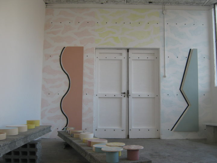 Monochromes & Wallpainting N°11  &  Céramiques N°1-6  &  Façade ANNE MINAZIO, ALAN SCHMALZ HIT Anne Minazio