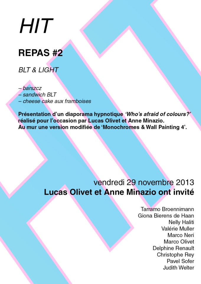 Repas N°2 ANNE MINAZIO, LUCAS OLIVET HIT Anne Minazio